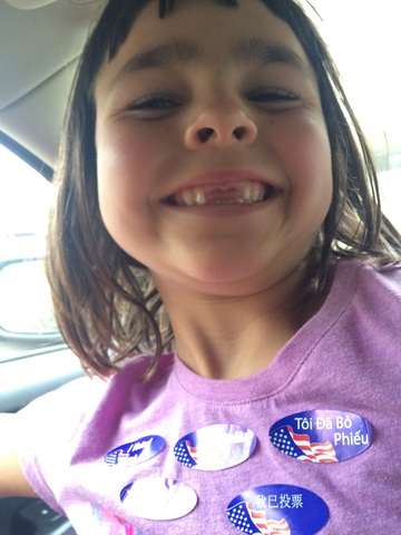 Because you definitely don't need teeth to vote :-)