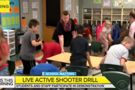 Live Active Shooter training drill at Ohio school. Screenshot, YouTube