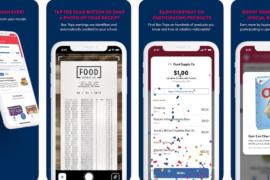 Screenshots of box top scanner app