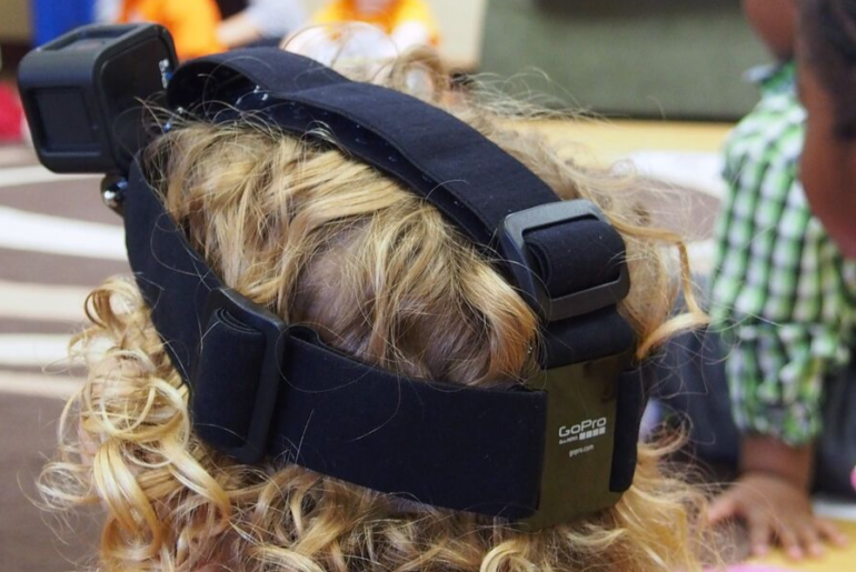 Preschoolers wore video cameras to capture their perspective.