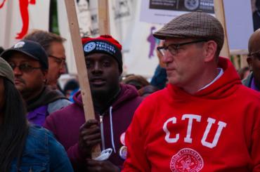 Jesse Sharkey, President of the Chicago Teachers Union, at the Chicago Teachers Union Rally on 10-14-19.