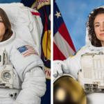 Astronauts Christina Koch and Jessica Meir