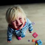 Child having a tantrum.