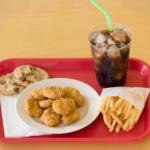 Unhealthy school lunch.