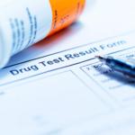 Drug test results form.