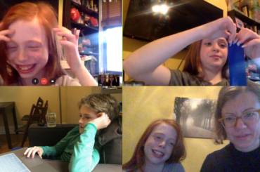 Collage of video chat screenshots