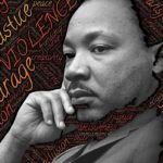Martin Luther King Jr. Photo illustration.