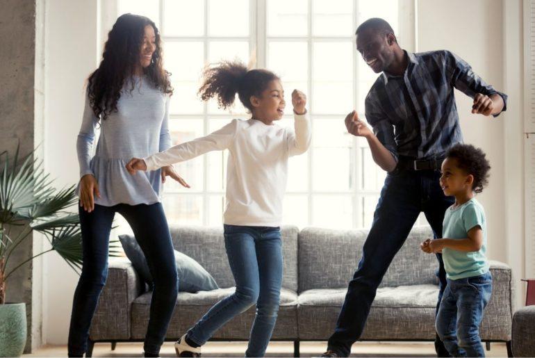 Family dancing.