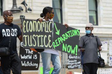 Juneteenth reparations rally in St. Paul, MN.