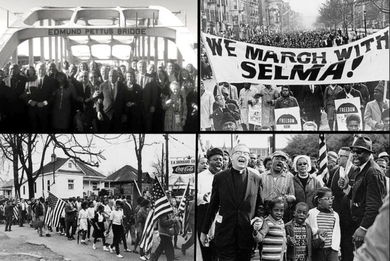 Selma, AL marches for voting rights.