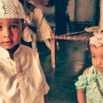Muslim children during Ramadan celebration.