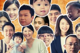 Collage of Asian American faces.